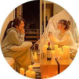 CANDLE GLAMPING