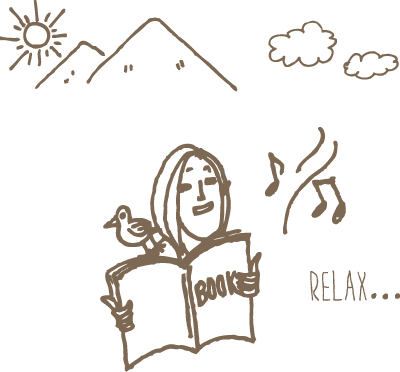 GRAX HANARE 読書 イラスト